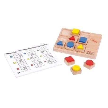 JAKOBS LoGeo - didaktická dřevěná hra