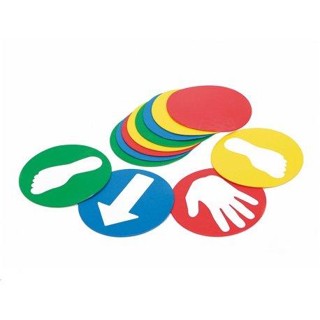 GYMNIC Naučné disky - motivy: ruka, noha, šipka