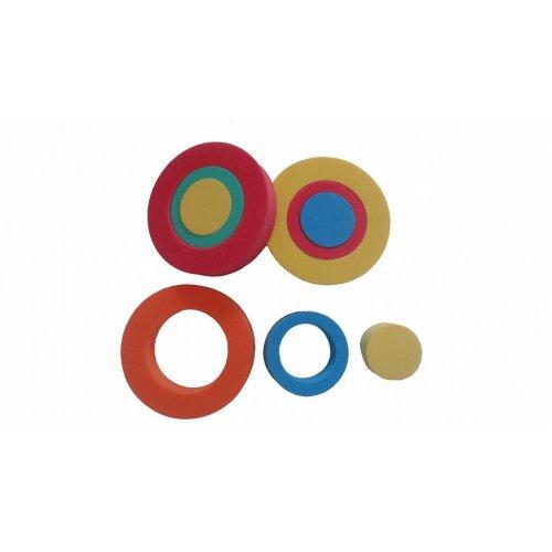 Skládačka kroužky - sada 3 kusy