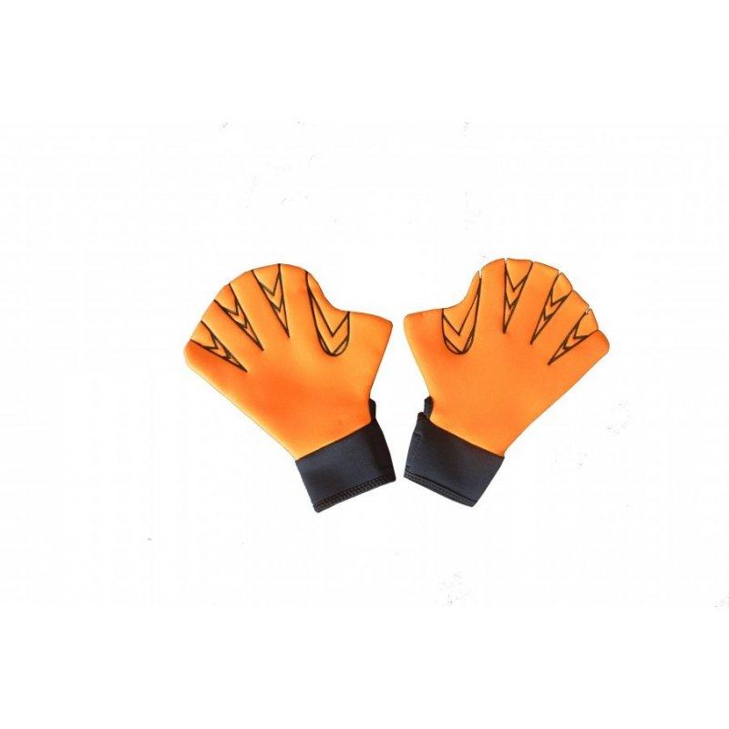 Plavecké rukavice na suchý zip (pár) vel. L