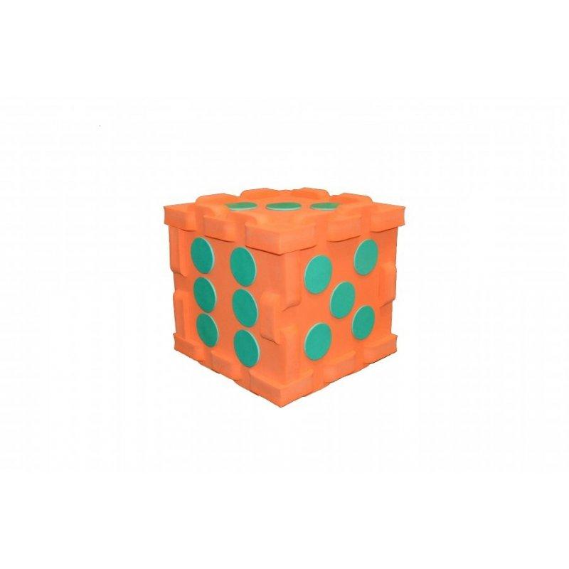 Maxi kostka - puzzle (puntíky 1-6) 320 x 320 x 320 mm