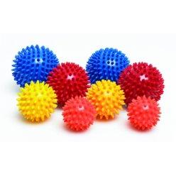 Masážní míček ježek tvrdý - průměr 9 cm průsvitný