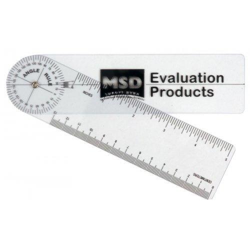 Goniometr pravítkový 20cm/360° plastový