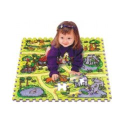 Safari EVA - dětská puzzle podložka 81 ks (TM02)