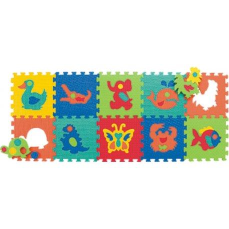 Zvířátka 931N 10 pěnových desek puzzle