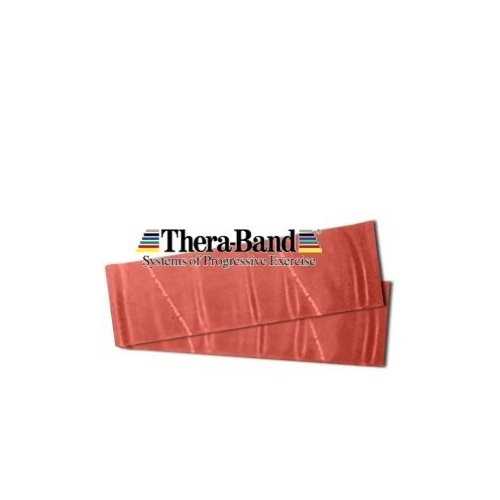 THERA-BAND Posilovací pás středně silný ČERVENÝ