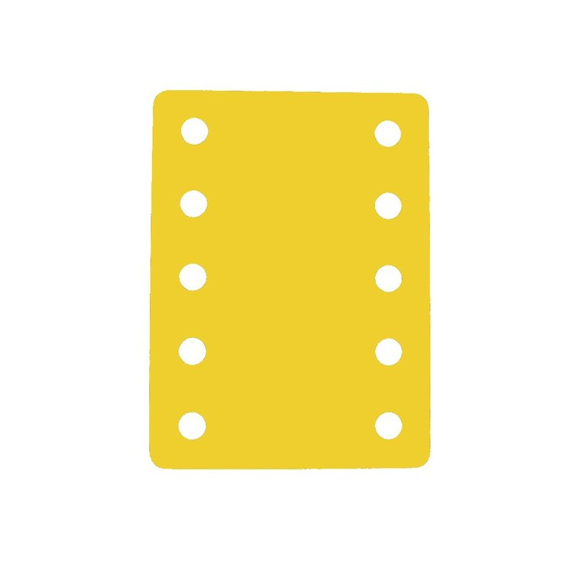 Plavecký ponton s deseti otvory 900 x 700 x 38 mm - žlutá