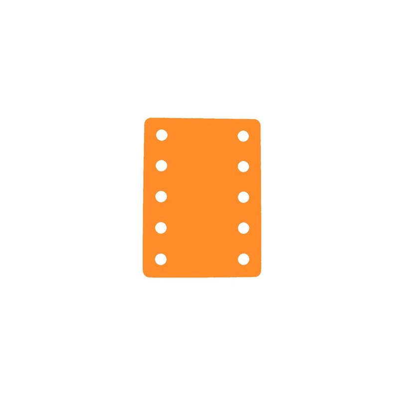Plavecký ponton s deseti otvory 900 x 700 x 38 mm - oranžová
