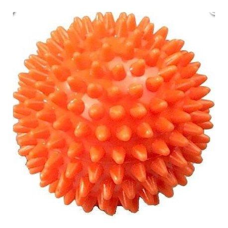 Masážní míček ježek tvrdý - průměr 6 cm - oranžový