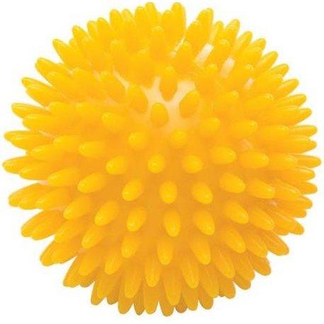 Masážní míček ježek tvrdý - průměr 8 cm - žlutý