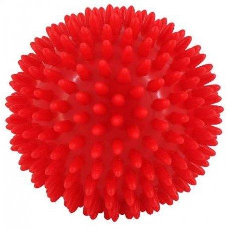 Masážní míček ježek tvrdý s bodlinami - průměr 9 cm - červený