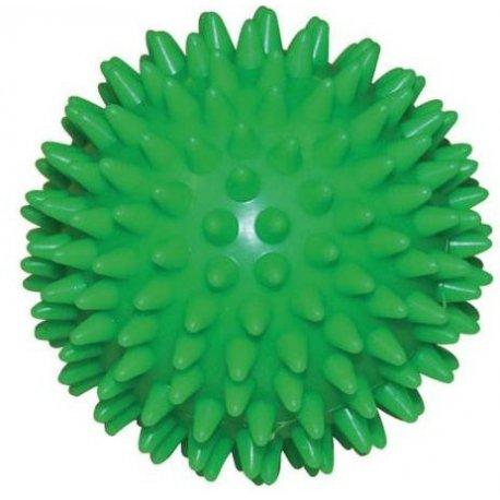 Masážní míček ježek tvrdý - průměr 7 cm - zelený