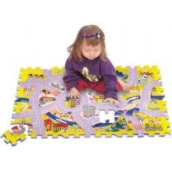 Město silnice EVA - pěnová puzzle podložka 54 ks (TM003)