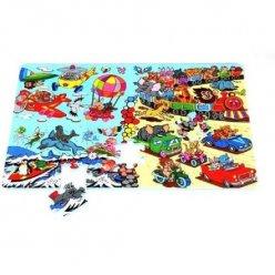 Zvířátka cestují EVA - dětská puzzle podložka (PN240P)