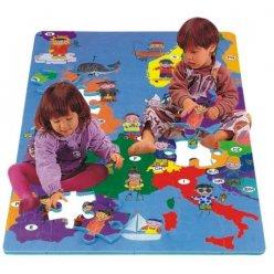 Mapa Evropy EVA - dětská puzzle podložka 54 ks (PN 190P)