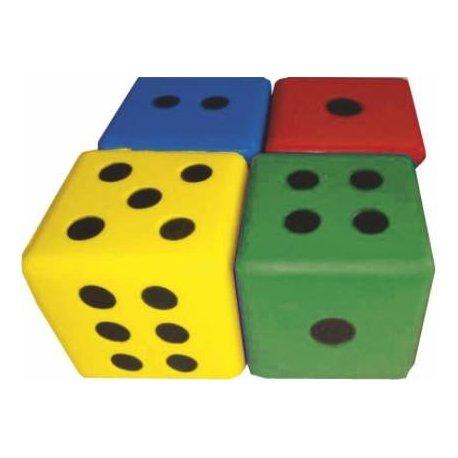 Pěnová hrací kostka 7x7 cm - tečky
