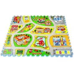City mapa EVA - dětská puzzle podložka 81 ks (TM011)