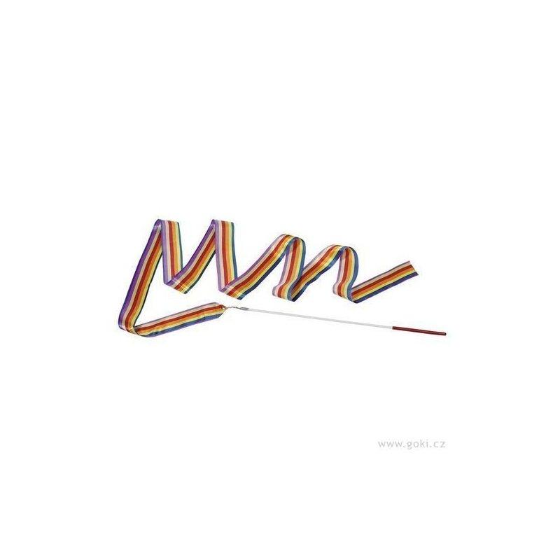 Gymnastická stuha s tyčkou - hračka - pruh