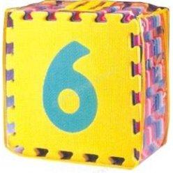 Čísla 0-9 - pěnové puzzle 30 x 30 cm - 10 ks