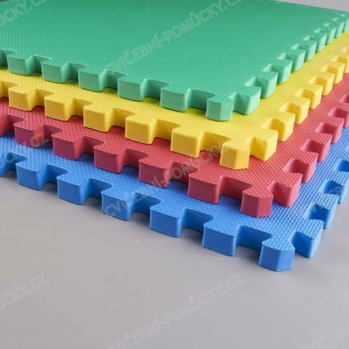 Zámková žíněnka EVA TOP kvalita 100 x 100 x 2,3 cm - různé barvy