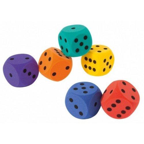 Pěnová hrací kostka 7x7 cm - barvy