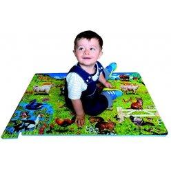 Zvířátka domácí EVA - dětská puzzle podložka 54 ks (PN 120P)