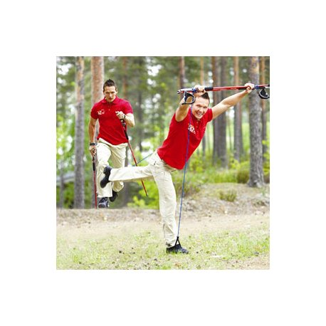 Gymstick OUTDOOR Health - outdoor hůlky - trekové hole s posilovací gumou