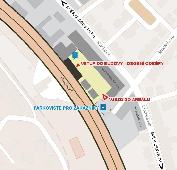Areál Moravostav - provozovna a výdejní místo Tivali, s.r.o.